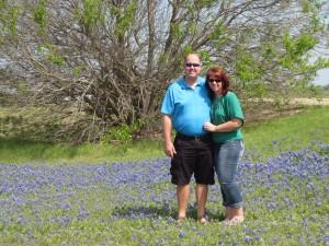 4-19-14 Matt & Debbi in the bluebonnets