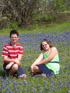 4-19-14 Sitting in the bluebonnets