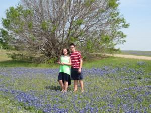 4-19-14 Trey & Crisana in the bluebonnets